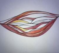 illustrationen farbe kugel unendlich spirale tusch ink color, infinity